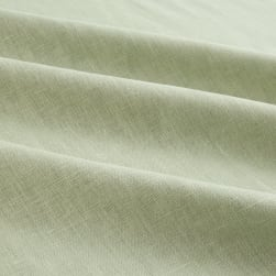 European 100% Washed Linen Seafoam Fabric