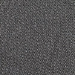 European 100% Washed Linen Charcoal Grey Fabric