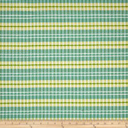 Sunbrella Canvas Stripe Turquoise Fabric