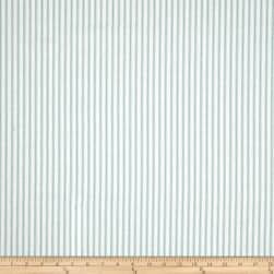 Magnolia Home Fashions Berling Ticking Stripe Aqua Fabric