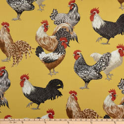 P Kaufmann Free Range Sunshine Yellow Fabric
