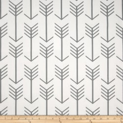 Premier Prints Arrow White/Cool Grey Fabric