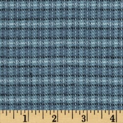 Primo Plaids Flannel Small Plaid Blue Fabric
