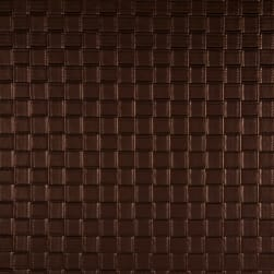 Luxury Faux Leather Basketweave Bronze