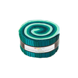"Kaufman Kona Solids Lush Lagoon 2.5"" Jelly Roll"