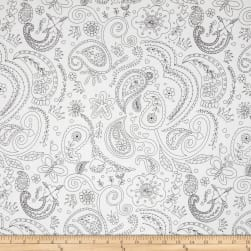 Michael Miller Color Me Princess Paisley White