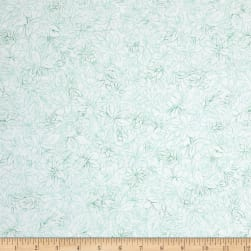 Mimosa Toile Flowers Lt Green