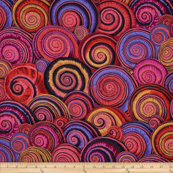 Kaffe Fassett Spiral Shells Red Fabric