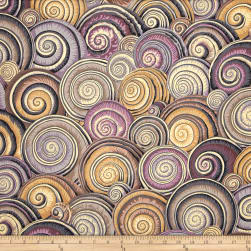 Kaffe Fassett Spiral Shells Brown Fabric