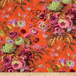 Kaffe Fassett Floral Delight Orange Fabric