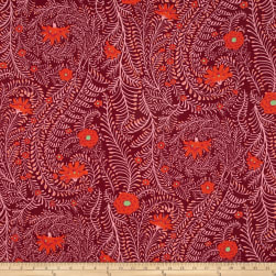 Kaffe Fassett Ferns Cherry Fabric