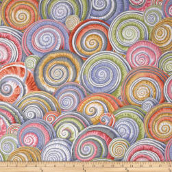 Kaffe Fassett Spiral Shells Grey Fabric