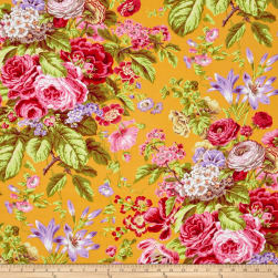 Kaffe Fassett Floral Delight Yellow Fabric