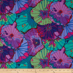 Kaffe Fassett Lotus Leaf Purple Fabric