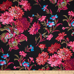 Kaffe Fassett Anne Marie Black Fabric