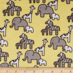 Shannon Kaufman Minky Cuddle Little Safari Banana Fabric