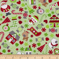 Riley Blake Cotton Jersey Knit Deer Green Fabric