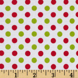 Riley Blake Cotton Jersey Small Dots Christmas Fabric