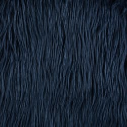 Shannon Lux Fur Mongolian Navy Fabric