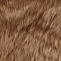 Shannon Faux Fur Luxury Shag Cocoa Fabric