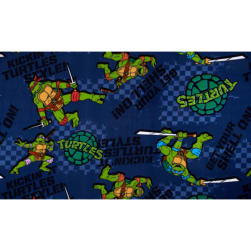 Nickelodeon Teenage Mutant Ninja Turtles Fleece Kickin It Turtle Style Blue