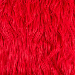 Shannon Value Fur Gorilla Fire Red Fabric