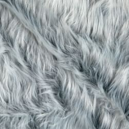 Shannon Faux Fur Monkey Shag Gray Frost Fabric