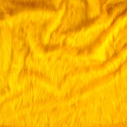 Shannon Faux Fur Monkey Shag Yellow Fabric
