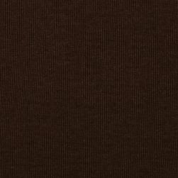 Fabric Merchants T-Knit Ribbing Chocolate Brown Fabric