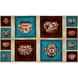 Trading Post Pottery Panel Multi Fabric