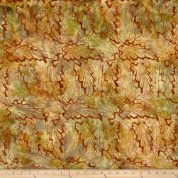 Indonesian Batik Abstract Floral Brown