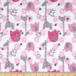 Minky Jungle Dreams Fuchsia Fabric