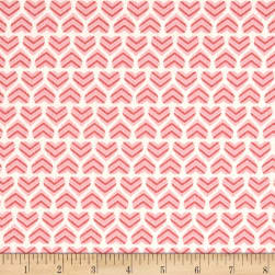 Moda Hugaboo Flannel In My Heart Twirly Pink