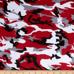 Minky Camo Red/Black