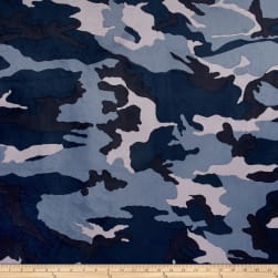 Minky Camo Navy/Blue Fabric