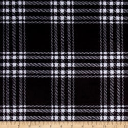 Minky Treas Plaid Black Fabric