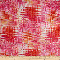 Minky Inception Pink Orange Fabric