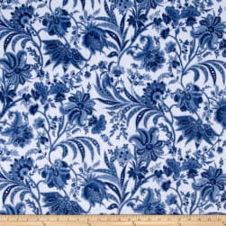 Minky Paris Blue Fabric