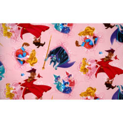 Disney Sleeping Beauty Fleece Sleeping Beauty and Prince Charming Pink Fabric