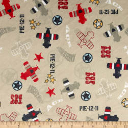 Minky Top Dog Khaki Fabric