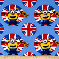 QT Fabrics Despicable Me Fleece Minions UK Guitars