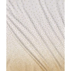 Michael Miller Glitz Metallic Confetti Border Pearlized White-Rose Gold Fabric