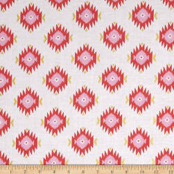 Michael Miller Glitz Garden Metallic Diamond Coral Fabric
