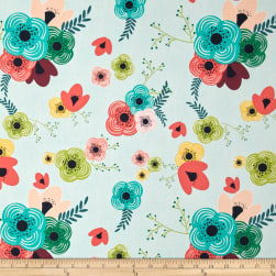 Art Gallery Happy Home Table Flowers Rainbow Fabric