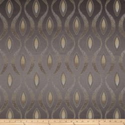 Eroica Eclectic Chenille Jacquard Abstract Steel Fabric