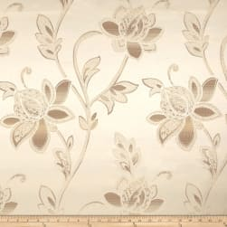 Eroica Glamour Chenille Jacquard Floral Alabaster Fabric