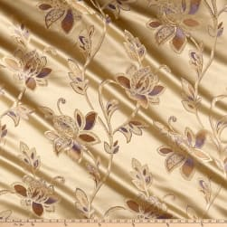 Eroica Glamour Chenille Jacquard Floral Orchid Fabric
