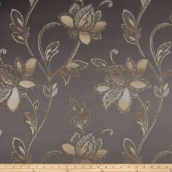 Eroica Glamour Chenille Jacquard Floral Steel Fabric