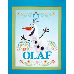 Disney Frozen Dancing Olaf 36'' Panel Turquoise Fabric