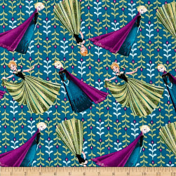 Disney Frozen Coronation Day Teal Fabric